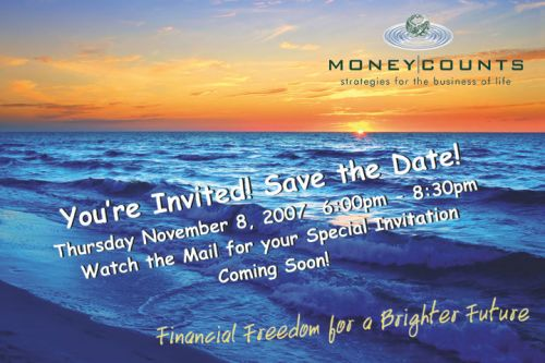 save the date eVite Money Counts